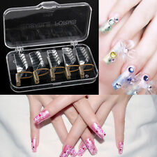 5PCS Reusable Nail Art Tips Extension Forms Guide French DIY Tool Acrylic UV Gel