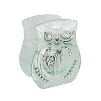 Decorative Tea Light Glass Large OWL Hestia Candle T Lite Holder
