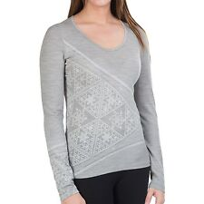 NEW Icebreaker Bodyfit 200 Oasis Sherpinsky Triangle Top - UPF 30+, W's  S  Wool