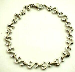 Jane Seymour Kay Open hearts Bracelet JWBR Sterling Silver Retired