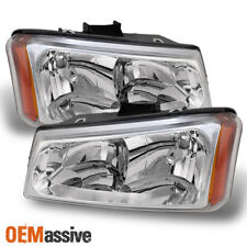 Fits 03-06 Silverado 03-06 Avalanche Pickup Truck Clear Crystal Headlights Pair