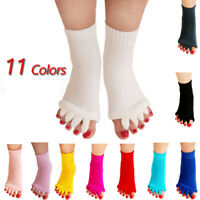 Alignment Socks Massage Open Toe Separator Sports Health Care Five Yoga Gym Foot