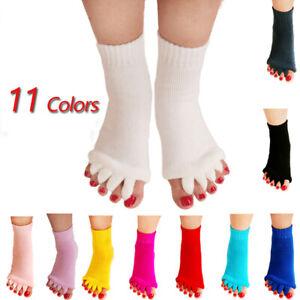 1Pair Foot Alignment Socks Yoga Gym Massage Open Toe Separator Socks Pain Relief
