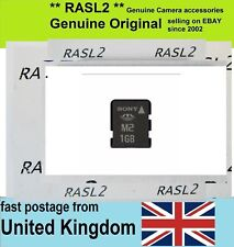 Genuine Sony M2 - 1GB Memory Card For Camera ,Ericsson, older Xperia, PSP GO