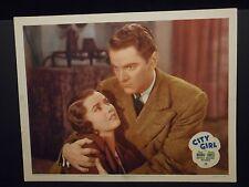 Phyllis Brooks City Girl 1938 orig Lobby Card Fine Crime Gangster