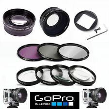 GOPRO HERO5 BLACK WIDE ANGLE LENS+TELEPHOTO ZOOM LENS + FILTER KIT + MACRO KIT