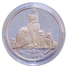 2014 Isle of Man 1-oz Proof Silver Snowshoe Cats - Free Shipping!