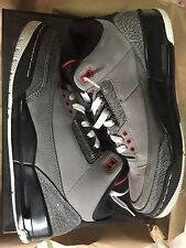Air Jordan Retro 3 III Stealth/Red/Black Size 10.5 Cement True