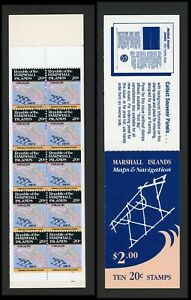 Marshall Islands Scott #41a MNH BOOKLET of 10x20c Map of Kwajalein CV$10+ ISH-1