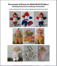 Treasury of Easy-to-Knit Doll Clothes Knitting Patterns for Cabbage Patch Dolls