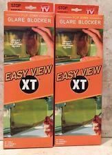 Easy View XT Sun Glare Blocker Fold Down Clip On As Seen on TV (2 Pack)