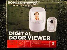 """Home Protector Safe&SecureDigital Door Viewer2.4"""" Screen Snapshot FunctionSilver"""
