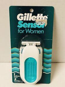 Vintage 1992 Gillette Sensor for Women Green Razor w/ One Cartridge New Open Box