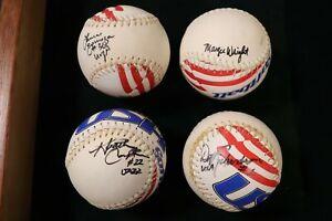 4 USA Softballs Olympic Signed Dot Richardson Margie Wright Espinoza Compton