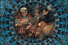 "Skeleton Tapestry ""Eternal Love""Wall Hanging by Artist Dan Morris 44""x66"" Guitar"