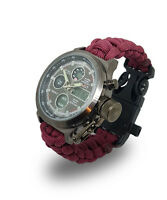 Paracord Watch with The Parachute Regiment (Paras) Colours Great Gift