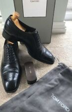 TOM FORD Uomo Nero Pelle Stringati CALATA Oxford Tg UK 9.5 US 10.5 T