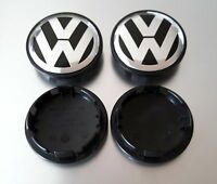 NEW 4X VW VOLKSWAGEN CHROME CENTER WHEEL COVER CAPS LOGO 3B7601171XRW GOLF JETTA
