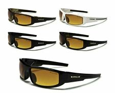 X Loop Sunglasses HD High Definition Sport Baseball Golf Wrap Plastic Frames Men