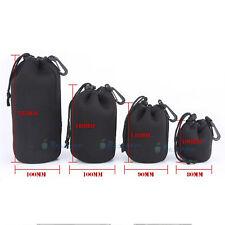 4 pcsMatin Neoprene Soft Camera Lens Pouch Bag Case Waterproof For Canon Nikon N