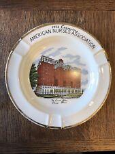 "American Nurse Assoc. 1954 Convention Plate/Ashtray ""The Conrad Hilton"""