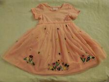NWT Hanna Andersson Flower Ladybug Tulle Applique Dress 120 6 7 Girls