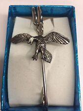 "Archaeopteryx We-Fap kilt pin Scarf pin pewter emblem 3"" 7.5 cm"