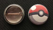 "Pokemon Go Pokeball - 1"" Pinback Button Pin - Nintendo iPhone - Buy 2 Get 1 Free"