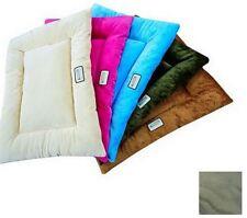 Medium Sage Green Soft Velvet Rectangular Travel Pillow Dog Bed 100% Poly-fill