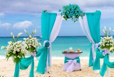 Wedding Decorations Flower Backdrop 7x5 Seaside Beach Background For Photography