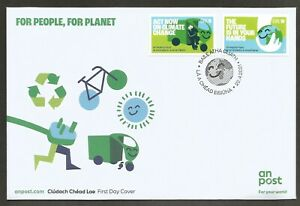 2021 IRELAND NEW ISSUE~FOR PEOPLE FOR PLANET BUREAU FDC