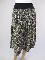 Crossroads Ladies Fold Waist Trapeze Pants sizes 8 10 12 14 16 Colour Leopard