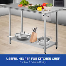 "24""x48"" inch Work Table Food Prep Commercial Stainless Steel Kitchen Restaurant"