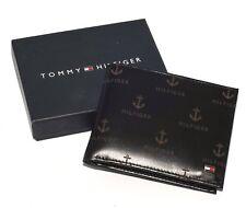 Homme TOMMY HILFIGER texturé cuir Lite Noir foncé poche Portefeuilles cartes