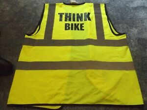 THINK BIKE - High visabillity safety waistcoat - Hi Vis - Yellow