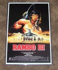 Rambo First Blood part 3 III 11X17 Movie Poster Sylvester Stallone