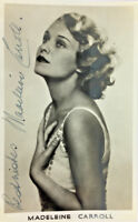 MADELEINE CARROLL ACTRESS AUTOGRAPH SIGNED REAL PHOTO POSTCARD RPPC UNPOSTED