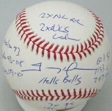 Padres TREVOR HOFFMAN Signed Official MLB Baseball AUTO w/ Career Stats - JSA