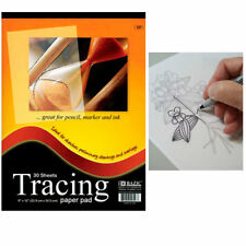 "1x Tracing 30 Sheet 9"" x 12"" Premium Quality Paper Pad Sketches Book Preliminary"