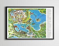 "Vintage 1971 Disney World Resort Map Poster! (up to full-size 24"" x 36"") - Magic"
