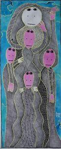 """ORIGINAL FAMOUS HAITIAN ART COLLECTIBLE PAINTING BY LEVOY EXIL """"SAINT SOLEIL"""""""