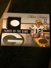 2006 AARON RODGERS LEAF CERIFIED MATERIALS FABRIC OF THE GAME #19/25 Jersey