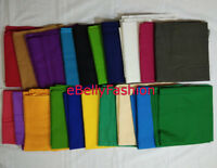Fabric 100% COTTON MUSLIN -PLAIN COLORS from India Material Sewing Craft BY Yard