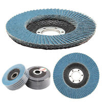"10Pcs 40/60/80/120 Flap Discs Strong Sturdy 115mm 4.5"" Sanding Grinding Wheels"