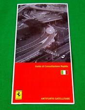 Ferrari Owners Handbook RARE Supplement - Security NavTrack - Italian Text 2007