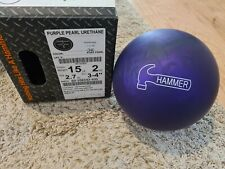 """Hammer Purple Pearl Urethane 1st Quality Bowling Ball   15 Pounds   3-4"""" Pin"""