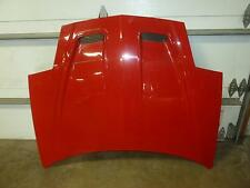 93-97  FIREBIRD Bright Red 8774 Hood Front End Bonnet Cover w/o Ram Air Scoops