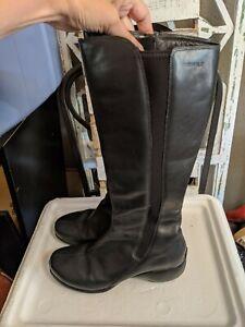Merrell Spire Peak Women Black Leather Zip Up Knee-High Waterproof Boot Size 9.5
