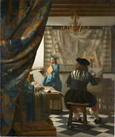 Johannes Vermeer The Art of Painting Giclee Canvas Print Poster LARGE SIZE