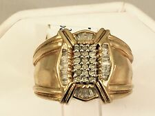 Solid 10K  Yellow Gold Diamond Men's Ring 0.5 CT 9.8gr